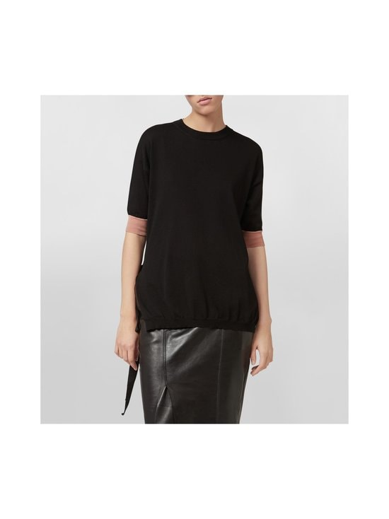 MARNI - Cotton Knit With Bow Side Opening -puuvillaneule - MLN99 BLACK   Stockmann - photo 2