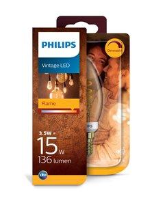 Philips - Vintage LED Classic 14W E14 -kynttilälamppu - GOLD   Stockmann