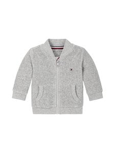 Tommy Hilfiger - Baby Velour Zip-Up Sweatshirt -svetaritakki - P01 GREY HEATHER | Stockmann