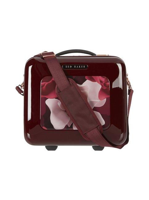 Porcelain Rose Burgundy Vanity Case -laukku