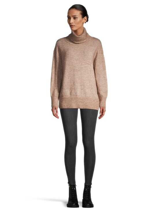 cut & pret - Skylar Loose Rolled Collar -pooloneule - TAUPE MELANGE | Stockmann - photo 2