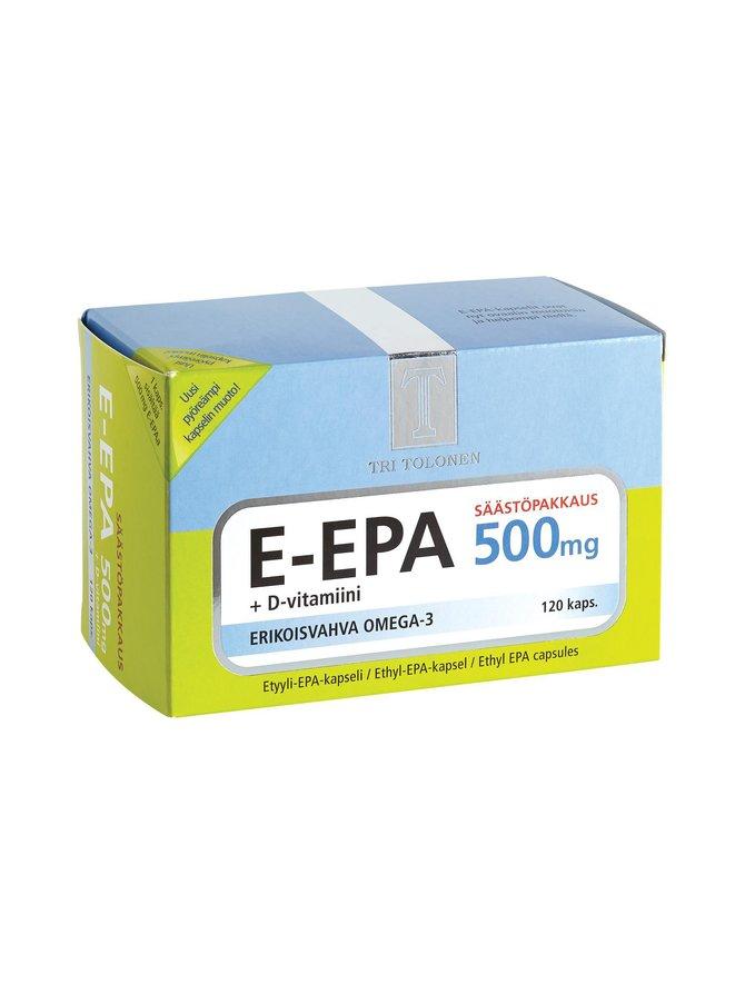 E-EPA-lisäravinne 500 mg/120 tabl./126 g