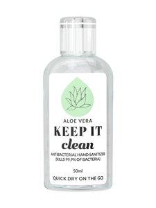 KEEP IT Clean - Aloe Vera Antibacterial Hand Sanitizer -antiseptinen käsigeeli 50 ml - null | Stockmann