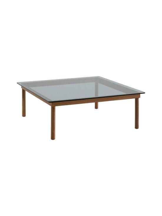 HAY - Kofi-pöytä 100 x 100 cm - WALNUT / GREY TINTED GLASS | Stockmann - photo 1