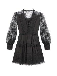 Self-Portrait - Black Lace Trimmed Mini Dress -mekko - BLACK | Stockmann