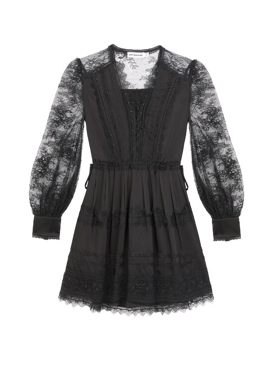 Self-Portrait - Black Lace Trimmed Mini Dress -mekko - BLACK | Stockmann - photo 1