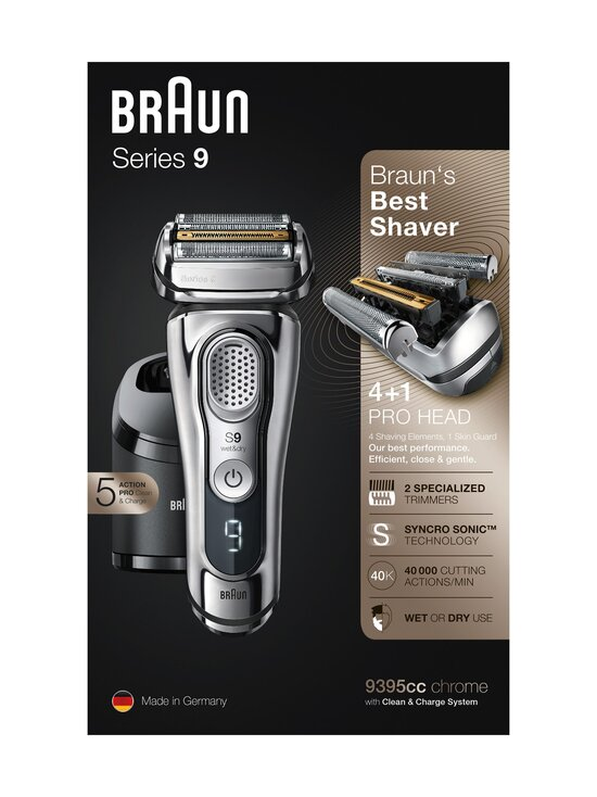 Braun - Series 9 9395cc -parranajokone - CHROME | Stockmann - photo 2
