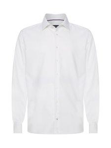Tommy Hilfiger Tailored - TH Flex Collar Herringbone -kauluspaita - YBR WHITE | Stockmann