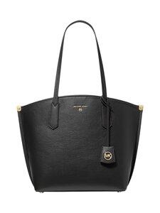 Michael Michael Kors - Jane Large Pebbled Leather Tote Bag -nahkalaukku - 001 BLACK | Stockmann