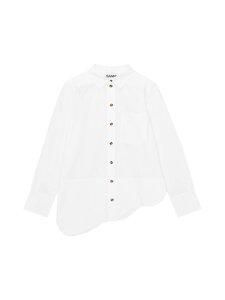 Ganni - Cotton Poplin -paitapusero - 151 BRIGHT WHITE | Stockmann