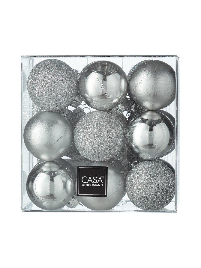 Matt/Shiny/Glitter -joulupallo 30 mm, 18 kpl