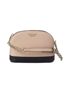 kate spade new york - Spencer Small Dome Crossbody -nahkalaukku - WARM BEIGE/BLACK | Stockmann