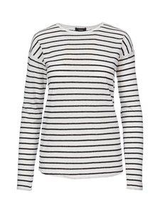 Theory - Relaxed Crew Stripe -paita - BLACK WHITE (VALKOINEN) | Stockmann