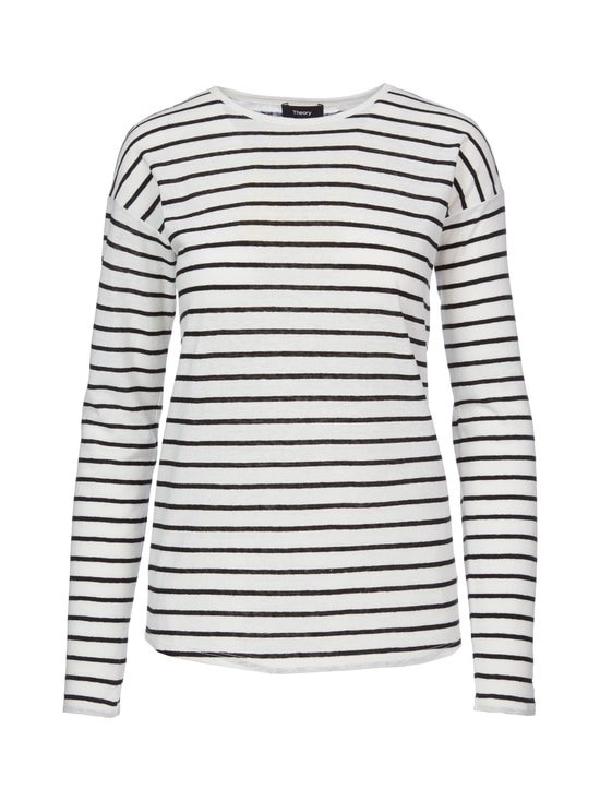 Theory - Relaxed Crew Stripe -paita - BLACK WHITE (VALKOINEN) | Stockmann - photo 1