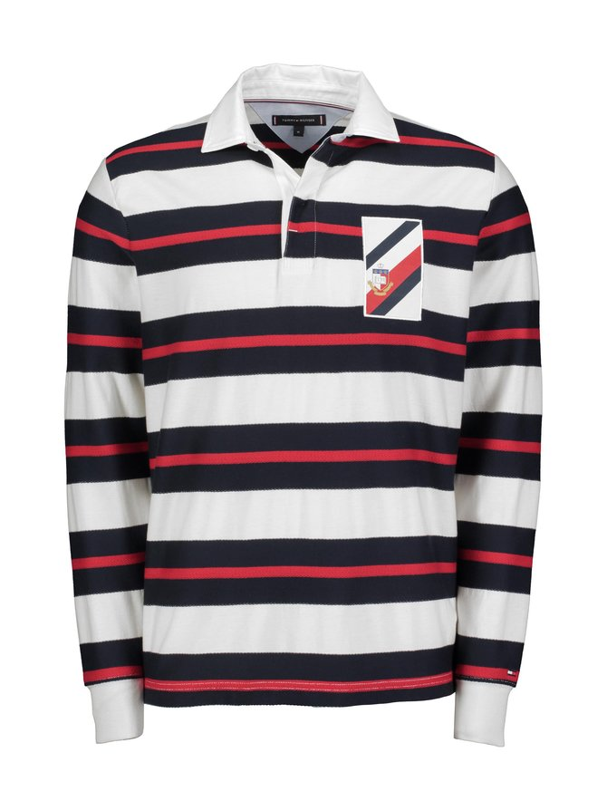 Texture Multi Color Stripe Rugby -paita