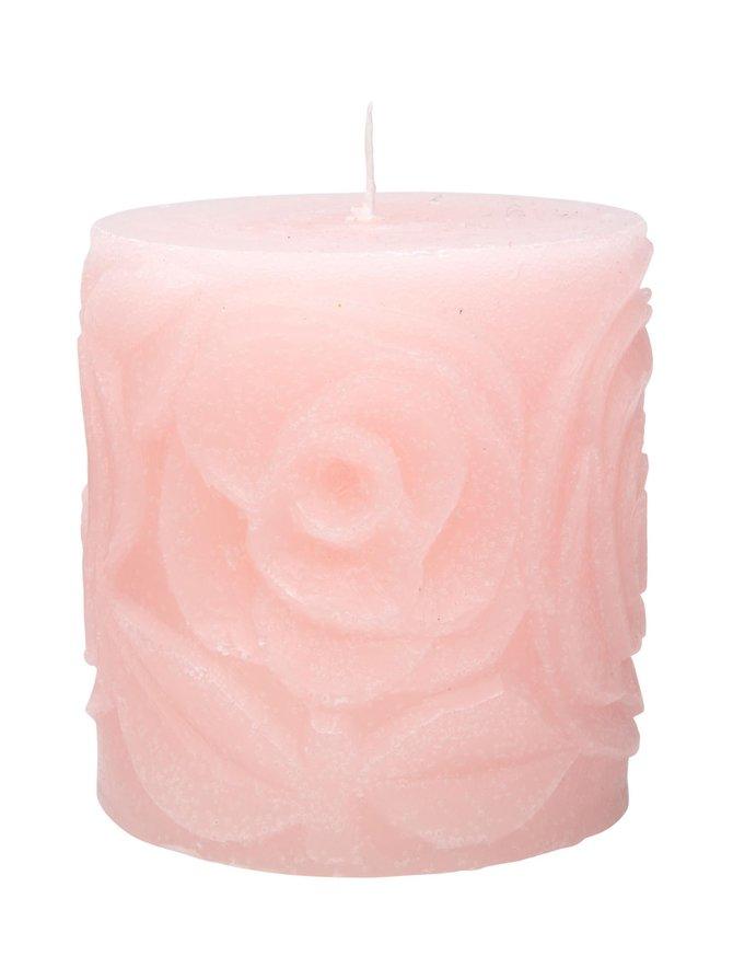 Ruusu-pöytäkynttilä 7,5 x 7,5 cm