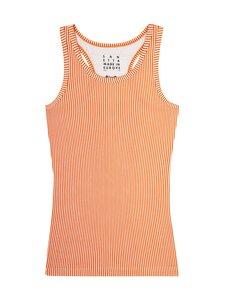 Sanetta - Teens Girl Undershirt Stripe Athleisure Workout -aluspaita - 2110 MANDARIN   Stockmann