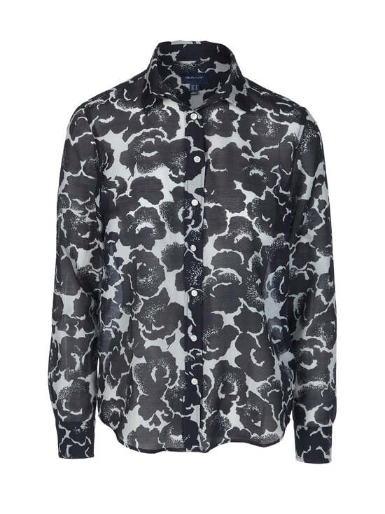 GANT - Snow Blossom Print Cotton Silk Shirt -pusero - 433 EVENING BLUE   Stockmann - photo 1