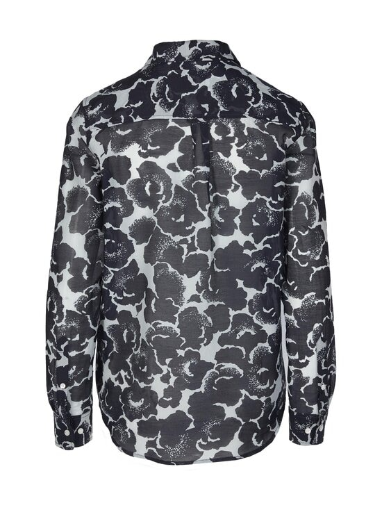 GANT - Snow Blossom Print Cotton Silk Shirt -pusero - 433 EVENING BLUE   Stockmann - photo 2