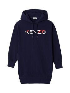 Kenzo - Logo Hooded Sweatshirt Dress -collegemekko - 76A NAVY BLUE   Stockmann