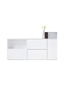 Lundia - Fuuga-tv-taso 34 x 68 x 160 cm - WHITE PAINTED MDF | Stockmann