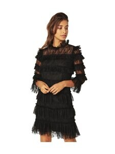By Malina - Carmine Mini Dress -mekko - BLACK | Stockmann