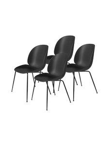 Gubi - Beetle-tuoli 4 kpl - BLACK MATT BASE, BLACK, PLASTIC GLIDES | Stockmann