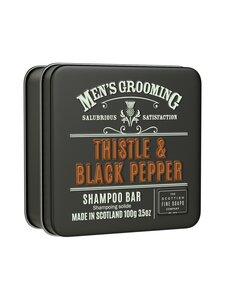 The Scottish Fine Soaps - Thistle & Black Pepper Shampoo Bar in a Tin -palashampoo 100 g | Stockmann