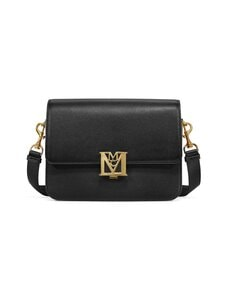 MCM - Small Mena Shoulder Bag in Visetos Leather Block -laukku - BK BLACK | Stockmann