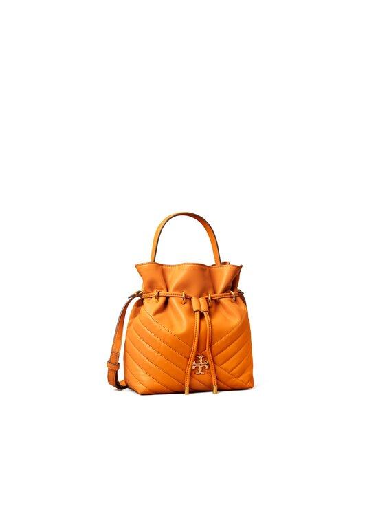 Tory Burch - Kira Chevron Mini Bucket Bag -nahkalaukku - SQUASH / ROLLED BRASS   Stockmann - photo 2