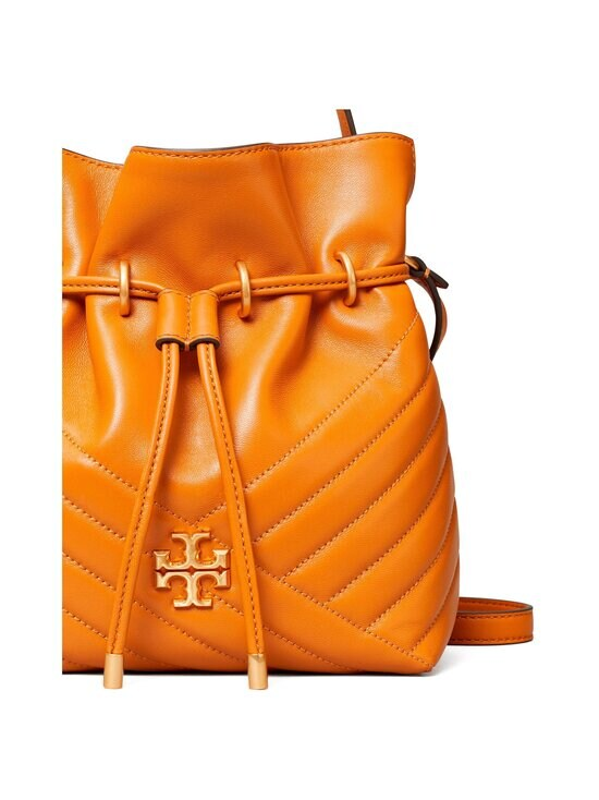 Tory Burch - Kira Chevron Mini Bucket Bag -nahkalaukku - SQUASH / ROLLED BRASS   Stockmann - photo 3