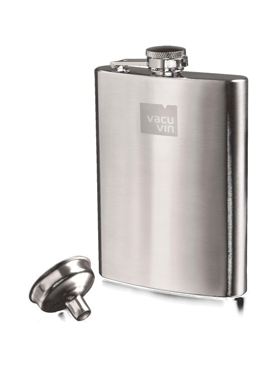 Vacuvin - Hip Flask & Funnel -taskumatti ja suppilo - STEEL | Stockmann - photo 1