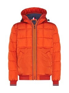 Tommy Hilfiger - Rope Dye Quilted Hooded Bomber -takki - SNC TUCSON ORANGE   Stockmann