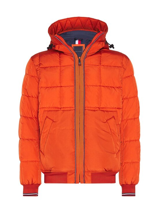 Tommy Hilfiger - Rope Dye Quilted Hooded Bomber -takki - SNC TUCSON ORANGE | Stockmann - photo 1