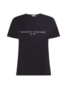 Tommy Hilfiger Curve - CRV REGULAR HILFIGER C-NK TEE  -paita - BDS BLACK   Stockmann