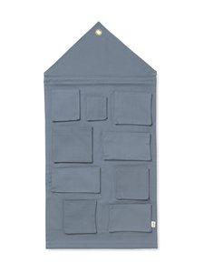 Ferm Living - House Wall Storage -seinälokerikko - DUSTY BLUE | Stockmann