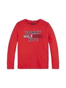 Tommy Hilfiger - Long Sleeve New York Logo Tee -paita - XNL DEEP CRIMSON | Stockmann