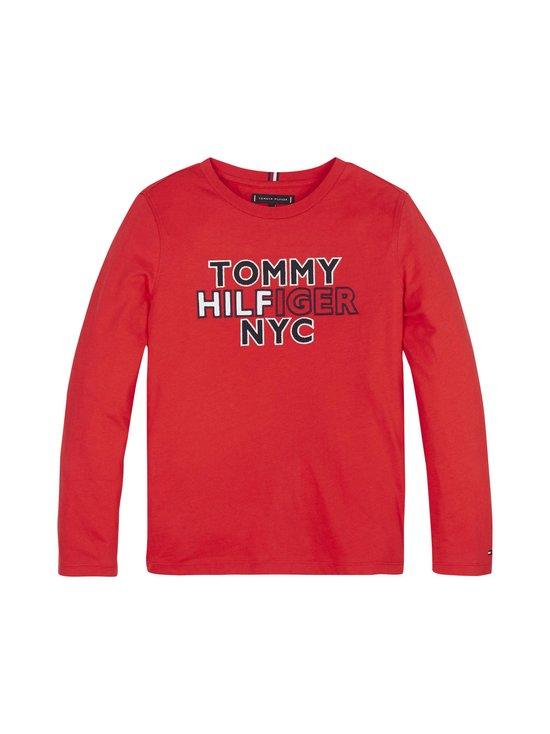 Tommy Hilfiger - Long Sleeve New York Logo Tee -paita - XNL DEEP CRIMSON | Stockmann - photo 1