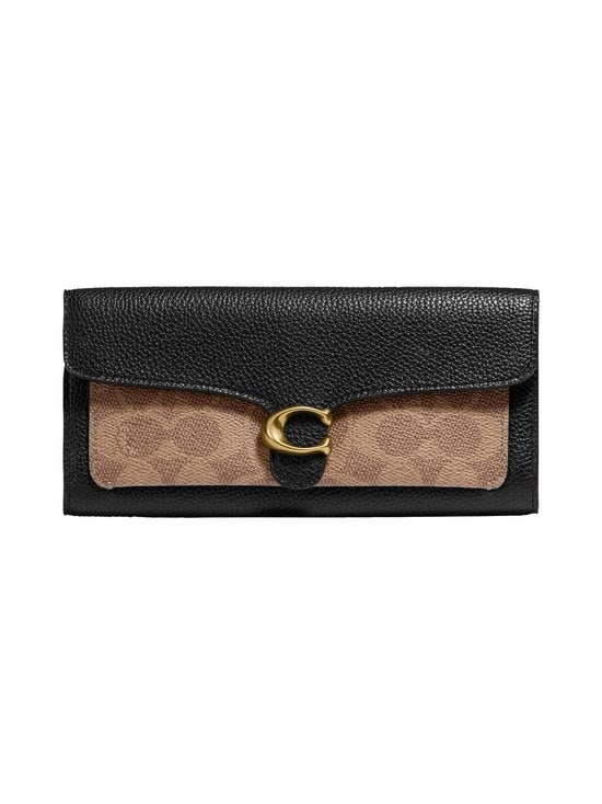 Coach - Tabby Long in Colorblock Signature Canvas -lompakko - B4/TAN BLACK | Stockmann - photo 1