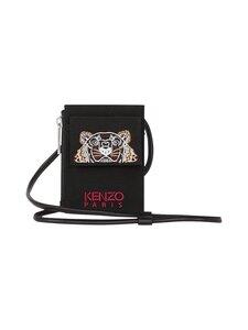 Kenzo - Canvas Kampus Tiger Card Holder With Long Strap -korttikotelo - BLACK | Stockmann