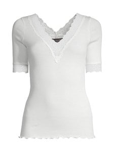 Rosemunde - Organic V-Neck T-Shirt -paita - 037 IVORY | Stockmann