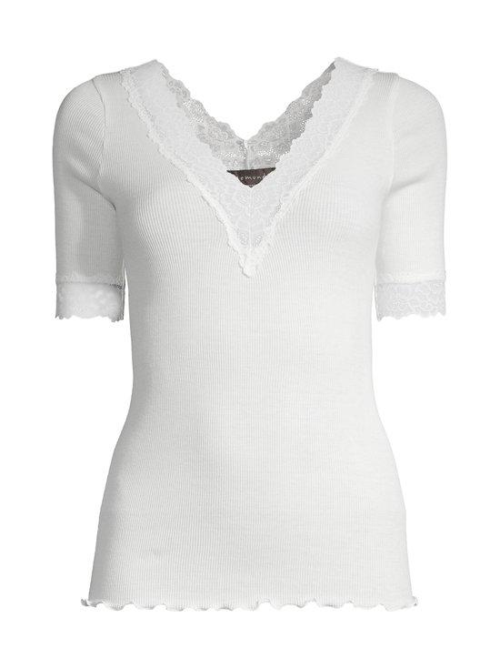 Rosemunde - Organic V-Neck T-Shirt -paita - 037 IVORY | Stockmann - photo 1