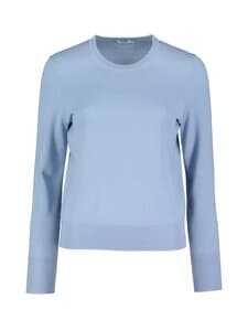 Filippa K - Merino R-neck Sweater -merinovillaneule - 9076 FADED BLUE | Stockmann