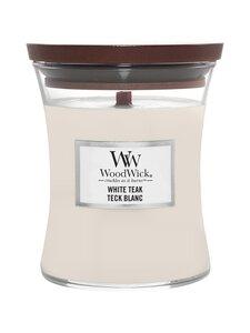 Woodwick - White Teak Medium -tuoksukynttilä - WHITE | Stockmann