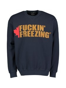 Dsquared - Fuckin' Freezing Crewneck Sweatshirt -collegepaita - 478 NAVY BLUE | Stockmann