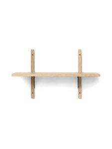 Ferm Living - Sector Shelf Single Narroww -hylly 54 x 34 x 22,1 cm - OAK - BLACK BRASS | Stockmann