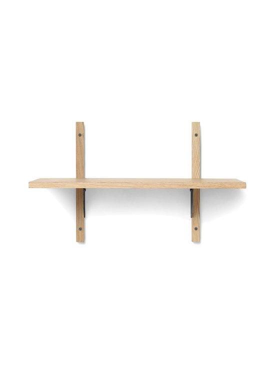 Ferm Living - Sector Shelf Single Narroww -hylly 54 x 34 x 22,1 cm - OAK - BLACK BRASS | Stockmann - photo 1