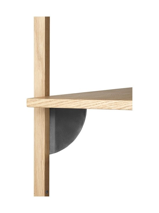 Ferm Living - Sector Shelf Single Narroww -hylly 54 x 34 x 22,1 cm - OAK - BLACK BRASS | Stockmann - photo 2