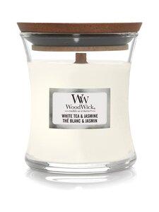Woodwick - White Tea & Jasmine Medium -tuoksukynttilä - WHITE | Stockmann