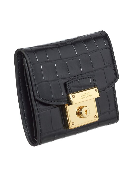 Lauren Ralph Lauren - Lock Wallet Medium -nahkalompakko - 2WAH BLACK | Stockmann - photo 2
